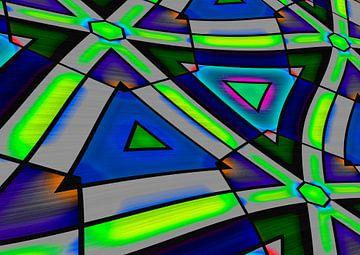 Abstrakt Triangle 2 van Rosi Lorz
