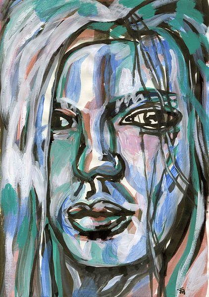 Zwart pastel van ART Eva Maria