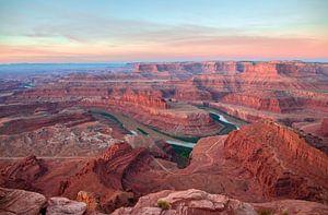 Zonsopgang boven Canyonlands van