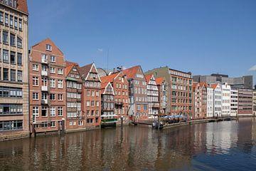 Historische Bürgerhäuser in der Deichstraße,  Nikolaifleet, Hamburg, Deutschland von Torsten Krüger