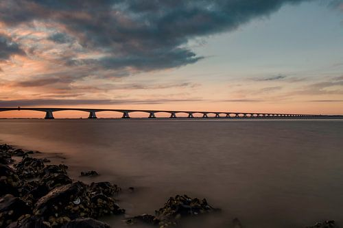 Zeelandbrug zonsondergang