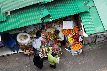 Hongkongse groente- en fruitmarkt van t.ART