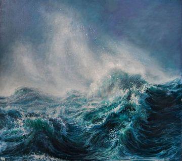 Sur la côte de la mer de tempête sur KB Prints