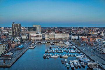 Jachthaven op het Eilandje Antwerpen van Bruno Hermans