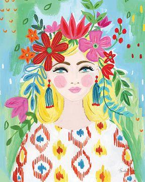 Boho Girl I, Farida Zaman sur Wild Apple