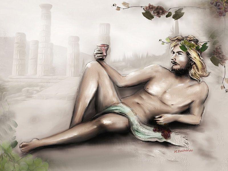 Dionysos Gott des Weines - Weingott Bacchus von Marita Zacharias