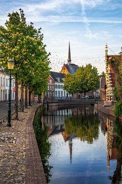 Westerkerk in Amersfoort met vogels in de lucht. van Bart Ros