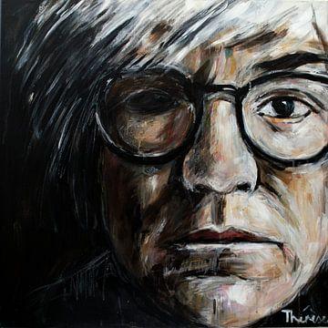 Porträt von Andy Warhol. von Therese Brals