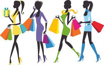 Einkaufen für trendige Mädchen von Atelier Liesjes