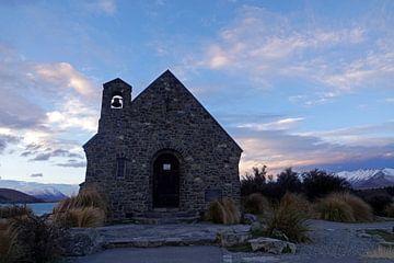 Goede Herder Kerk bij het Tekapo meer in Nieuw Zeeland van