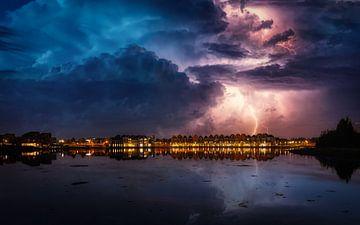 De Rietplas met zwaar weer van Mart Houtman
