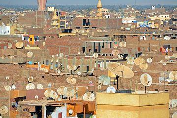 Egypte Luxor daken satalietbeeld van Nora Verhoef