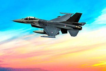 F-16 Fighting Falcon, take off. sur Gert Hilbink