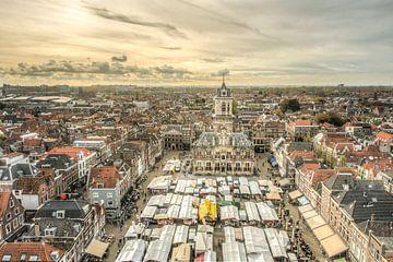 Marché sur le Markt à Delft, aux Pays-Bas sur Sven Wildschut