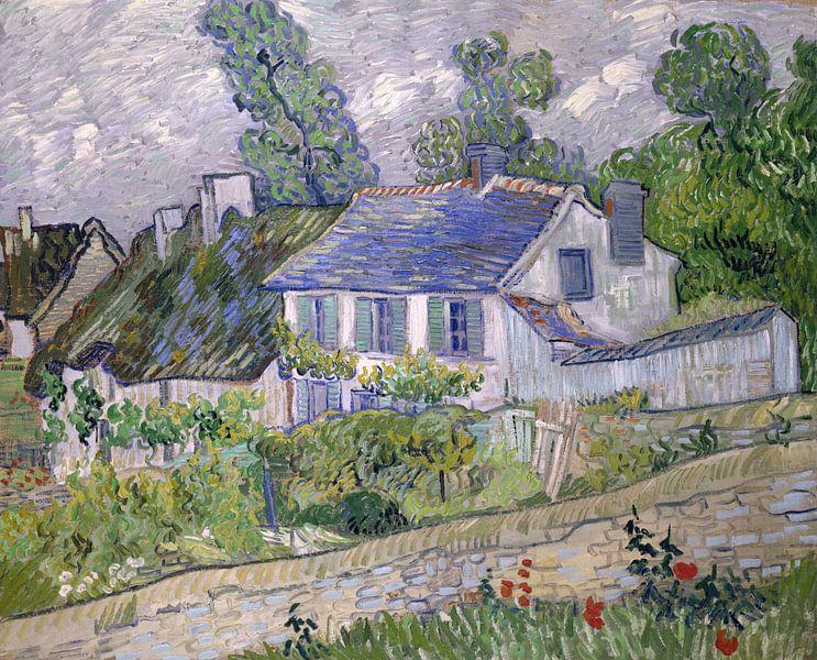 Vincent van Gogh. Huizen in Auvers van 1000 Schilderijen