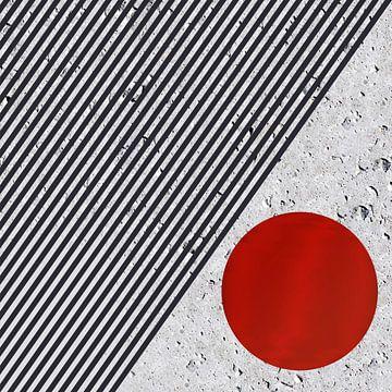 Op-Art - Le point rouge sur Christine Nöhmeier