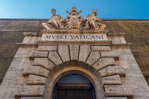 Hoofdingang van het Vaticaanse museum van