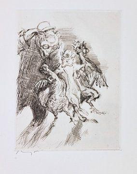 Reinaert. Opgedragen aan de uitgever en vriend Bruno Cassirer., Fabel, MAX SLEVOGT, 1928 van Atelier Liesjes