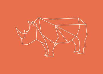 Nashorn - Grafische Tiere von Dieuwertje en Kevin van der Linden - Meijer