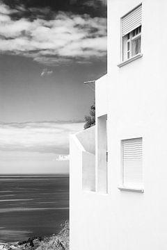 Weiße Haus Meerblick von Jan Brons