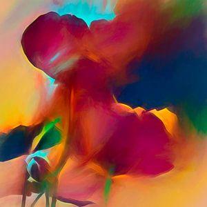 moderne bloemen van Andreas Wemmje