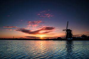 Dutch Windmill by Sunrise