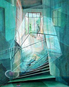 Cubus im Raum von Gertrud Scheffler