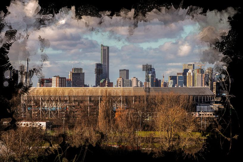 "Feyenoord ART Rotterdam Stadion ""De Kuip"" Skyline van MS Fotografie   Marc van der Stelt"