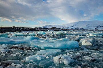 Landschaft in Island, Jökulsárlón und Diamond Beach von Gert Hilbink