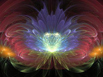 Regenboog bloem van Shirley Hoekstra