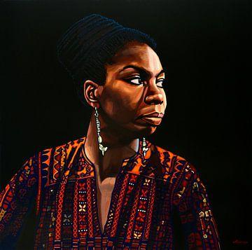 Nina Simone Schilderij von Paul Meijering