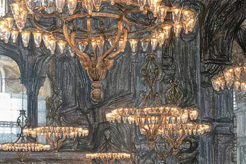Kandelaar in de Hagia Sofia van Frank Heinz