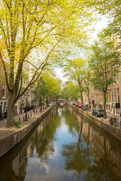 Amsterdam Oudezijds Achterburgwal canal during summer van Sjoerd van der Wal