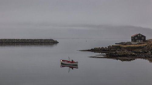De haven van Djupivogur
