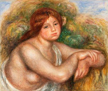 Büste einer Frau, Aktstudie, Renoir (1910)