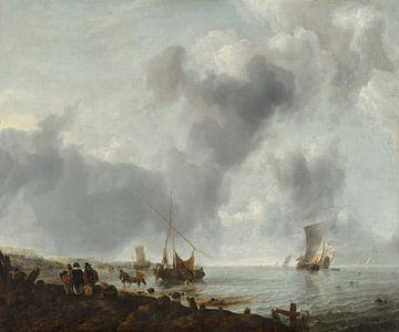 Schepen voor de kust, Jan van de Cappelle