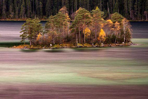 Herbststimmung am Eibsee von Andreas Müller
