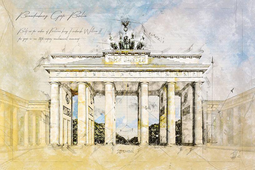 Brandenburger Tor,  Berlin von Theodor Decker
