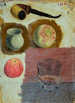 Studie einer Pfeife und anderer Objekte, William Harnett