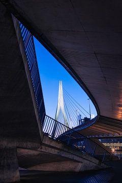Architecture du pont Erasmus à Rotterdam sur Vincent Fennis
