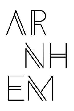 Städtemotiv Arnhem Typo