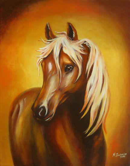 Afbeelding met de hand beschilderd Fantasy paard  van Marita Zacharias