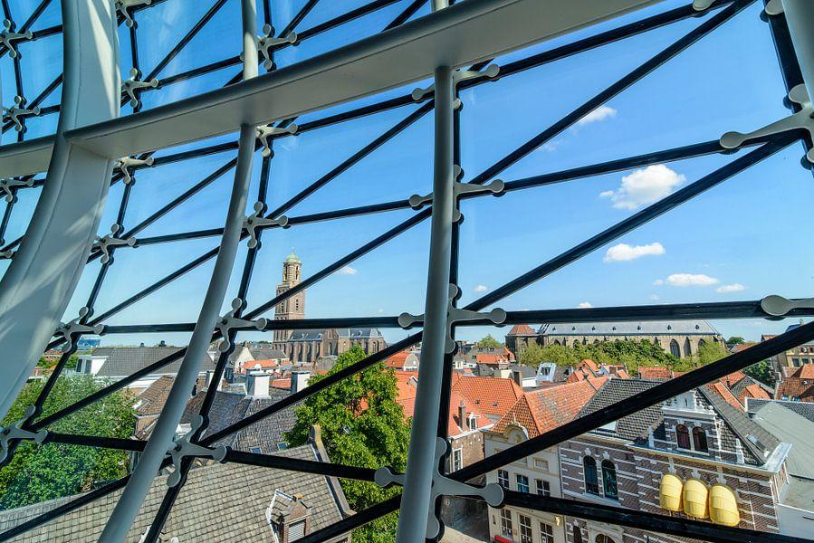 Uitzicht over Zwolle van de Fundatie van Sjoerd van der Wal