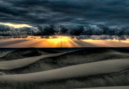 HDR zonsondergang van