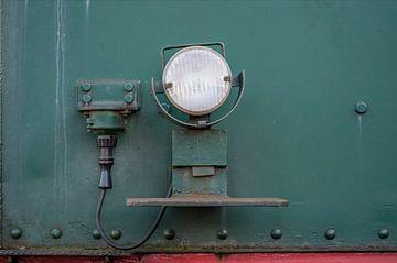 Oude treinlamp van Ron Meijer