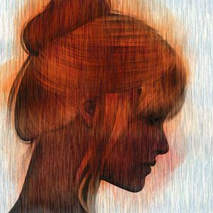 Abstract portret vrouw