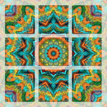 Kleurrijk Mandala van Marion Tenbergen