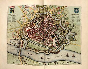 Arnhem, Stadsplattegrond Joan Blaeu 1652 van Atelier Liesjes