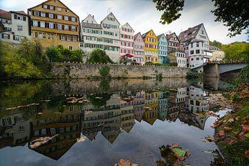 Oude stad van Tübingen van Julia Schellig