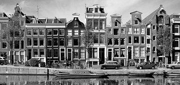 Panorama Grachtenpanden Amsterdam, Nederland sur Roger VDB
